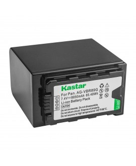Kastar LCD Fast Charger + Battery 2x for Panasonic AG-VBR89G AG-VBR59 AG-VBR118G AG-BRD50 AG-B23 AG-DVX200 AG-AC8 AG-AC90A AG-DVC30 AG-HPX250 HPX255 AJ-PX230 AJ-PX270 AJ-PX298 AJ-PG50 HC-MDH2 HC-X1000