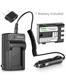Kastar NB-2L NB-2LH Battery and Charger Kit Replacement for Canon VIXIA HF R10, VIXIA HF R11, VIXIA HF R100, VIXIA HV20 , VIXIA HV30, VIXIA HV40, LEGRIA HF R16, LEGRIA HF R18, LEGRIA HF R106 Camera