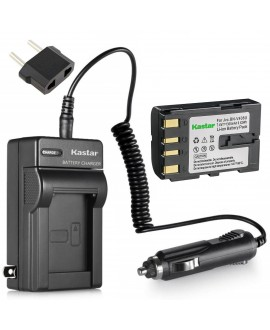 Kastar Battery and Charger for JVC BN-V408 BN-V408U BN-V416 BN-V416U BN-V428 BN-V428U and JVC GR-DZ7 GR-HD1 GR-PD1 GR-VF1 GR-Z7 JY-VS200 GV-DV300 GV-DV301 GY-HD100 GY-HD101 GY-HD110 GY-HD111 JY-HD10