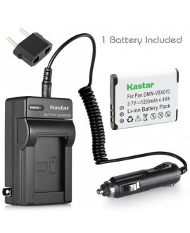 Kastar VW-VBX070 Battery (1-Pack) and Charger Kit for Pentax D-Li88 Panasonic VW-VBX070 Sanyo DB-L80 DB-L80AU & Pentax Optio H90 P70 P80 W90 WS80 Panasonic HX-DC1 DC2 DC10 DC15 WA10 HM-TA2 TA20 Camera