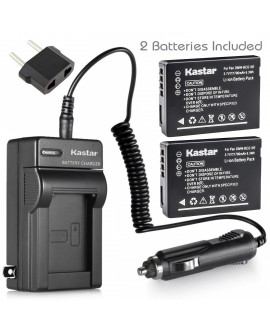 Kastar Battery 2 Pack and Charger for Panasonic DMC-ZS1, DMC-TZ7S, DMC-TZ7T, DMC-ZS3, DMC-ZS1K, DMC-ZS1S, DMC-ZS3, DMC-ZS3A, DMC-ZS3K, DMC-ZS3R, DMC-ZS7, DMC-ZS6, DMW-BCG10, DMW BCG10E, DMW BCG10PP