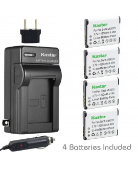 Kastar VW-VBX070 Battery (4-Pack) and Charger Kit for Pentax D-Li88, Panasonic VW-VBX070, Sanyo DB-L80, DB-L80AU Battery and Digital Cameras (Search your Camera Model down Description)