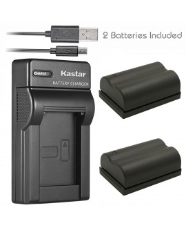 Kastar Battery (X2) & Slim USB Charger for Canon BP-511 BP-511A and Canon EOS 5D 10D 20D 30D 40D 50D Digital Rebel 1D D60 300D D30 Kiss Powershot G5 Pro 1 G2 G3 G6 G1 Pro90 Optura 20, Grip BG-E2N