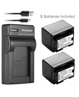 Kastar X2 Fully Decoded Battery + Slim USB Charger for Canon BP-727 & VIXIA HF M50, HF M52, HF M500, HF R30, HF R32, HF R40, HF R42, HF R50, HF R52, HF R60, HF R62, HF R300, HF R400, HF R500, HF R600