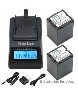 Kastar Fast Charger + Battery 2x for Panasonic CGA-DU21 DU07 DU14 NV-GS400 GS500 GS508 MX500 PV-GS150 GS180 GS320 GS400 GS500 SDR-H48 H68 H200 H250 H280 VDR-D258 D300 D308 D310 D400 M74 M75 M95 M250