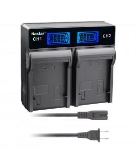 Kastar LCD Rapid Charger for JVC BN-V408 V408U BN-V416 V416U BN-V428 V428U and JVC GR-D2000 GR-D21 GR-D22 GR-D23 GR-D30 GR-D31 GR-D33 GY-HD111 JY-HD10 JY-VS200