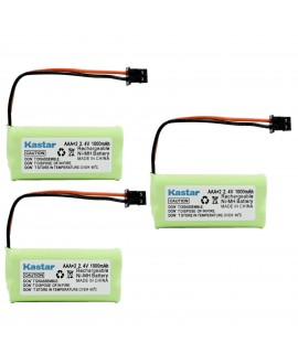 Kastar 3 Packs Cordless Home Phone Battery Replacement for Uniden BT1008 BT-1008 BT1016 BT-1016 BT1021 BT-1021 WITH43-269 65AAAH2BMS WX12077, Sanyo CAS-D6325, Radio Shack 23-596 23-931 43-223 43-269
