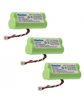 Kastar 3-PACK AAA 3.6V 1000mAh Ni-MH Rechargeable Battery Replacement for Motorola Symbol 82-67705-01 Symbol LS-4278 LS4278-M BTRY-LS42RAAOE-01 DS-6878 Cordless Bluetooth Laser Barcode Scanner