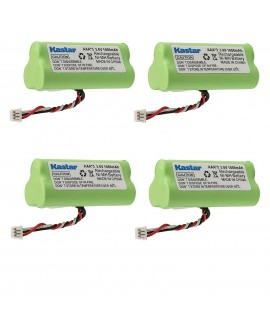 Kastar 4-PACK AAA 3.6V 1000mAh Ni-MH Rechargeable Battery Replacement for Motorola Symbol 82-67705-01 Symbol LS-4278 LS4278-M BTRY-LS42RAAOE-01 DS-6878 Cordless Bluetooth Laser Barcode Scanner