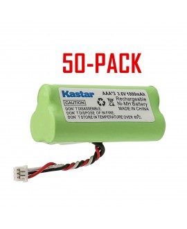 Kastar 50-PACK AAA 3.6V 1000mAh Ni-MH Rechargeable Battery Replacement for Motorola Symbol 82-67705-01 Symbol LS-4278 LS4278-M BTRY-LS42RAAOE-01 DS-6878 Cordless Bluetooth Laser Barcode Scanner