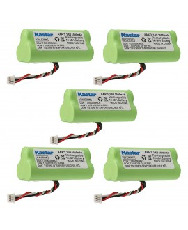 Kastar 5-PACK AAA 3.6V 1000mAh Ni-MH Rechargeable Battery Replacement for Motorola Symbol 82-67705-01 Symbol LS-4278 LS4278-M BTRY-LS42RAAOE-01 DS-6878 Cordless Bluetooth Laser Barcode Scanner
