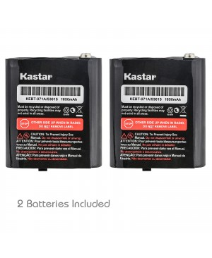Kastar 2 Pack Battery M53613 Replacement for Motorola Em1000 KEBT-071-A KEBT-071-B KEBT-071-C KEBT-071-D Talkabout T4800 T4900 T5000 T5800 T9500R