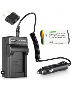 Kastar Battery (1-Pack) and Charger Kit for Kodak KLIC-8000, K8000 work with Kodak Z1012 IS, Z1015 IS, Z1085 IS, Z1485 IS, Z612, Z712 IS, Z812 IS, Z8612 IS Cameras